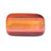 Glass Long Rectangle Bead 24x15mm Orange/Yellow/Pink - Strung